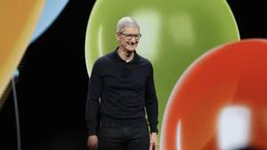 Apple-Chef Tim Cook auf der WWDC