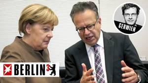 Angela Merkel im November 2015 mit dem damaligen Bamf-Leiter Frank-Jürgen Weise