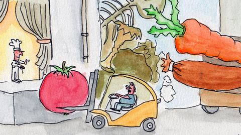 Cartoon: Wo gibt es solche Lieferungen?