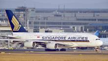 Airbus A380 der Fluggesellschaft Singapore Airlines