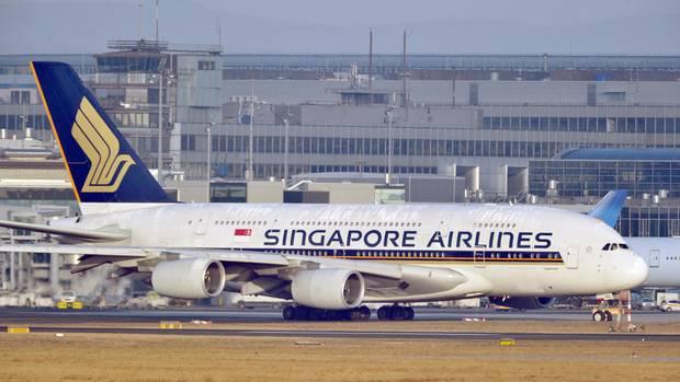 Airbus A380 der Fluggesellschaft Singapore Airlines
