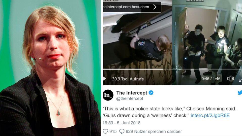 Whistleblowerin Chelsea Manning und der Polizeieinsatz in ihrer Wohnung