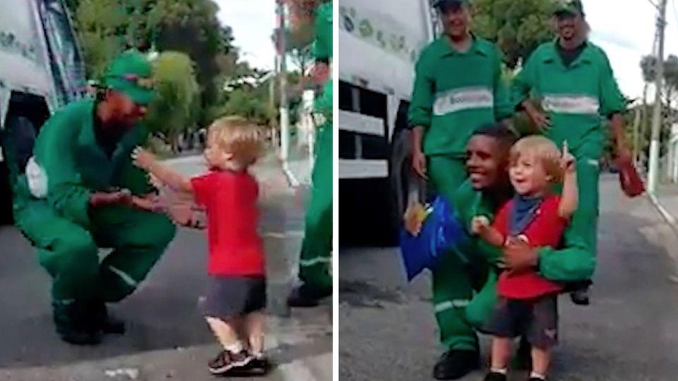 Brasilien: Müllmänner werden wie Helden gefeiert