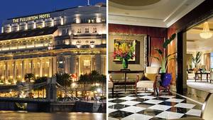 The Fullerton Hotel Singapore und eine Suite im Shangri-La Hotels Singapore
