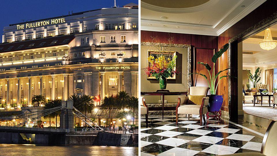 The Fullerton Hotel Singapore und eine Suite im Shangri-La Hotels Singapore