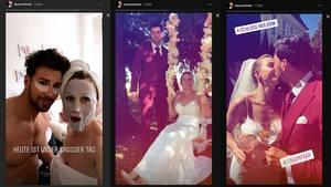 Von den Vorbereitungen bis zum Kuss: Leonard Freier dokumentierte seine Hochzeit ausführlich bei Instagram