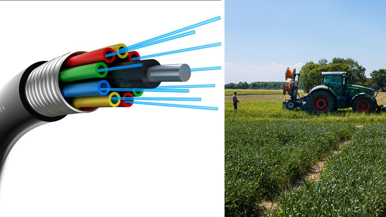 Münsterland: Landwirte legen in Eigenregie Rohre für Glasfaserkabel