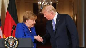 EU Donald Trump Angela Merkel