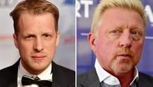 Oliver Pocher (l,) und Boris Becker führen seit Jahren eine öffentliche Fehde