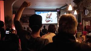 Public Viewing im Café Rizz