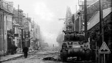 Die Stadt bietet ein Bild der Verwüstung nach den Kämpfen.