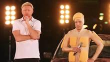 """2013 duellierten sich Boris Becker und Oliver Pocher in der RTL-Show""""Alle auf den Kleinen"""". Dem war ein öffentlicher Twitter-Streit vorausgegangen."""