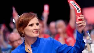 Parteivorsitzende Katja Kipping beim Parteitag der Linken in Leipzig