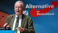 Alexander Gauland spricht beim Parteitag der bayerischen AfD
