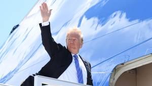 US-Präsident Donald Trump vor dem Abflug vom G7-Gipfel in Kanada