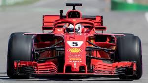Gute Ausgangsposition für die Scuderia Ferrari beim Großen Preis von Kanada: Sebastian Vettel wird aus der ersten Reihe starten.