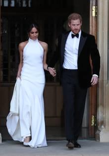 Zur Party nach der Hochzeit trug Meghan Markle ein Kleid von Stella McCartney