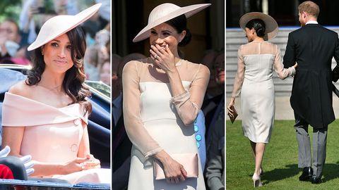 Meghan Markle bei ihren beiden offiziellen Auftritten nach der Hochzeit mit Prinz Harry