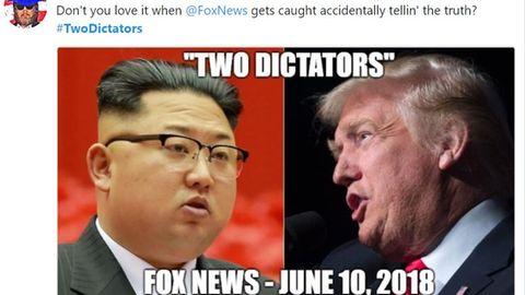 """Vor Gipfel in Singapur: Trump und Kim, """"die beiden Diktatoren"""" - als Fox News versehentlich """"die Wahrheit"""" sagte"""