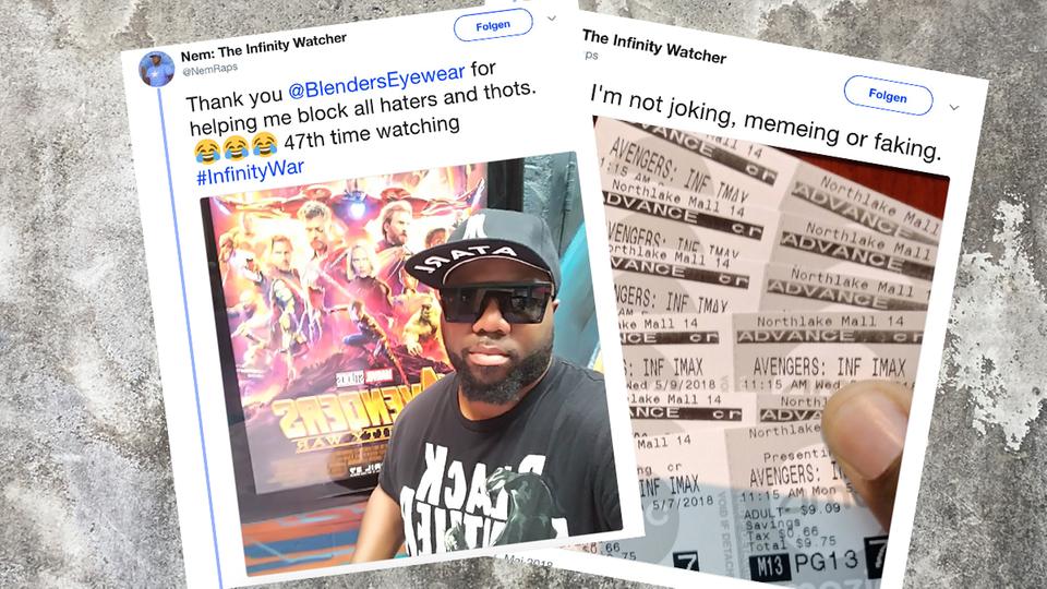 """USA: Dieser Fan guckte """"The Avengers: Infinity War"""" bereits 48 Mal"""