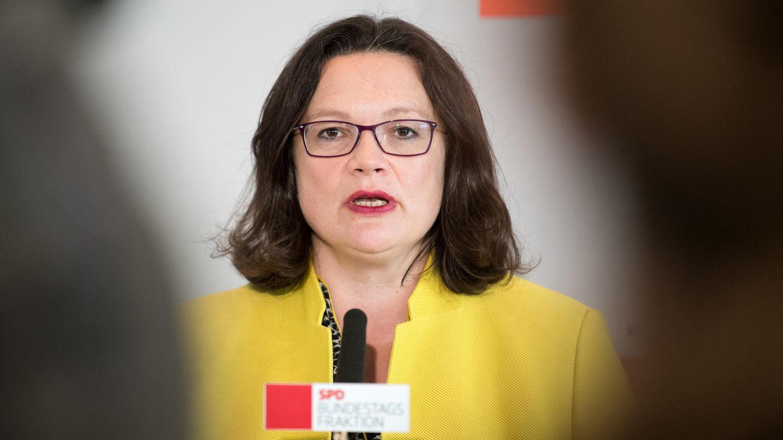 Andrea Nahles will,dass die Frage des SPD-Kanzlerkandidaten vor der nächsten Wahl 2021 frühzeitig entschieden wird