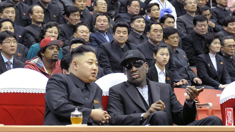 Ex-US-Basketballstar Dennis Rodman und Nordkoreas Machthaber Kim Jong Un