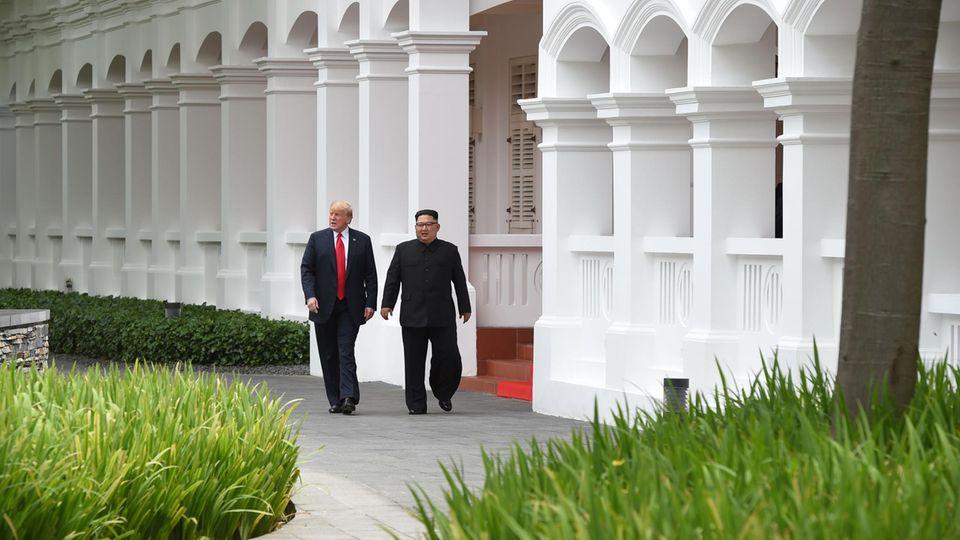 Gipfeltreffen zwischen Nordkorea und USA: Donald Trump und Kim Jong Un in Singapur