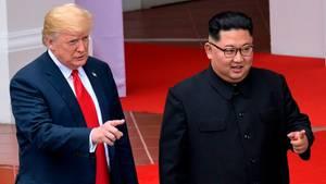 Donald Trump und Kim Jong Un während des Friedensgipfels in Singapur