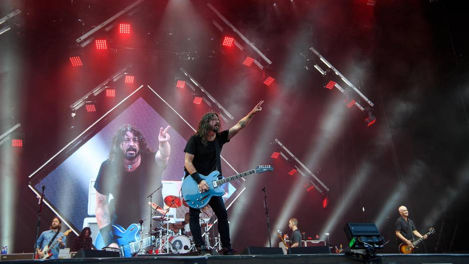 Foo-Fighters-Frontmann Dave Grohl auf dem Rock-im-Park-Festival 2018
