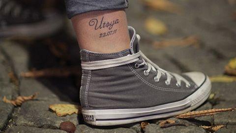 Anschläge in Norwegen: Sofie hat sich ihr Tattoo im August stechen lassen. Einen Monat nach dem Tag, über den sie noch nicht sprechen kann.