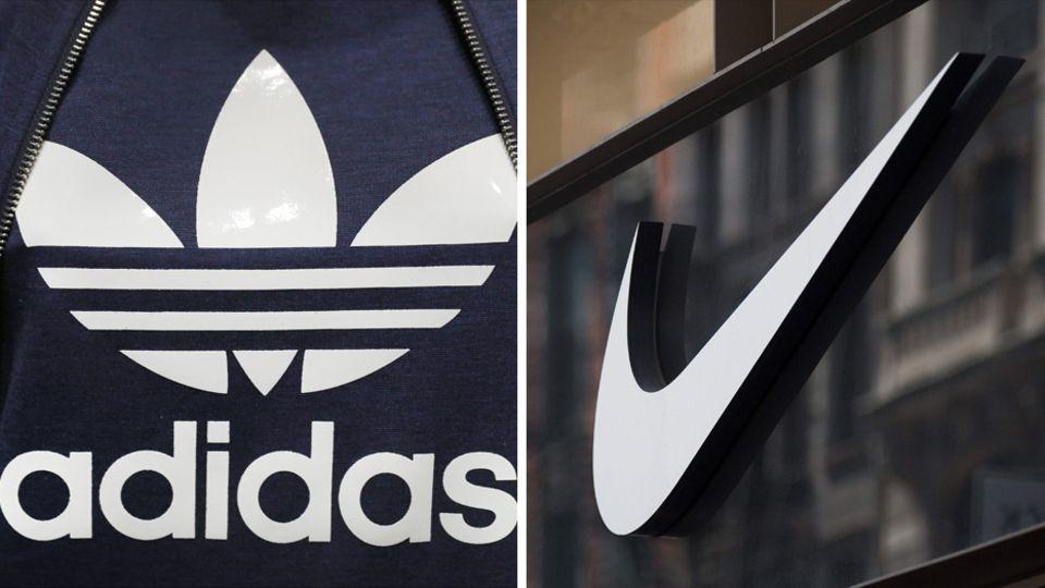 Logos von Adidas und Nike