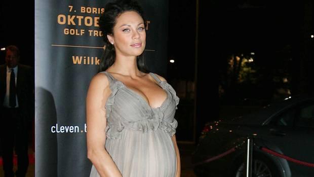 Die schwangere Lilly Becker, ein paar Monate nach der Hochzeit