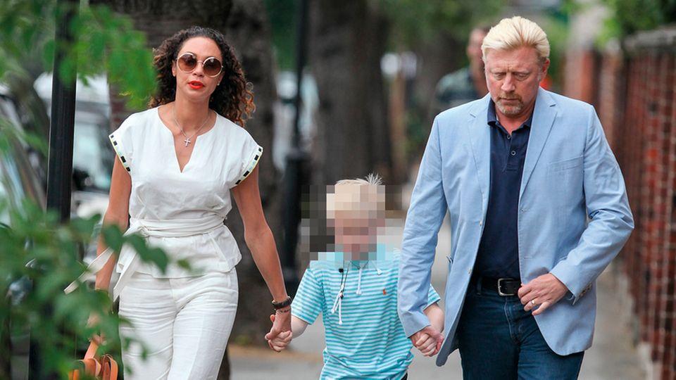 Das Paar mit Sohn Amadeus, 2017 in London
