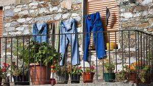 Wäscheprotest im englischen Colyton