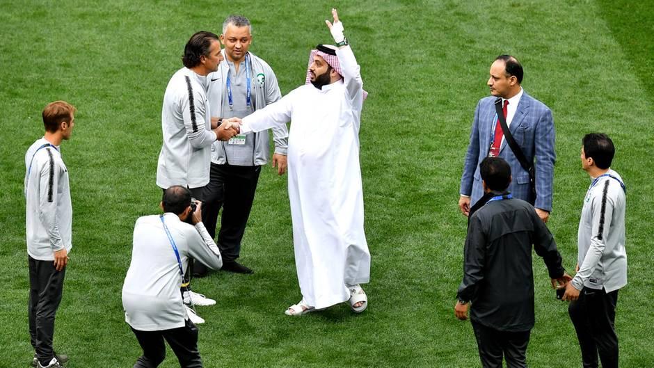 Saudi-Arabien:Turki al-Sheikh und Juan Antonio Pizzi