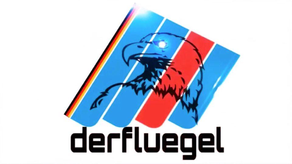 """Das Logo der radikalen AfD-Gruppierung """"Der Flügel"""", in einem Filmchen mit Adler versehen. Die Gruppe nennt sich darin """"aufrecht""""und """"unbeugsam"""""""