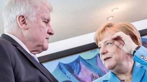 Bundeskanzlerin Angela Merkel (CDU) und Innenminister Horst Seehofer (CSU)