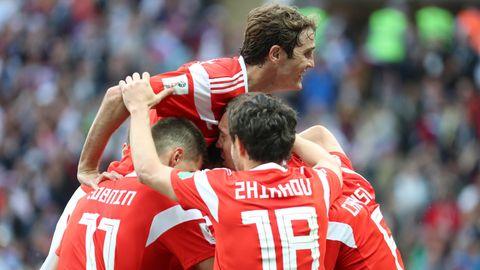 Russland hat das Eröffnungsspiel der WMmit 5:0 (2:0) gegen Saudi-Arabien gewonnen