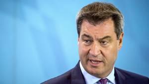 Bayerns Ministerpräsident Markus Söder - Er bleibt im Asylstreit zwischen CSU und CDU hart