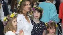 Prinzessin Märtha Louise mit ihren TöchternLea, Maud undEmma