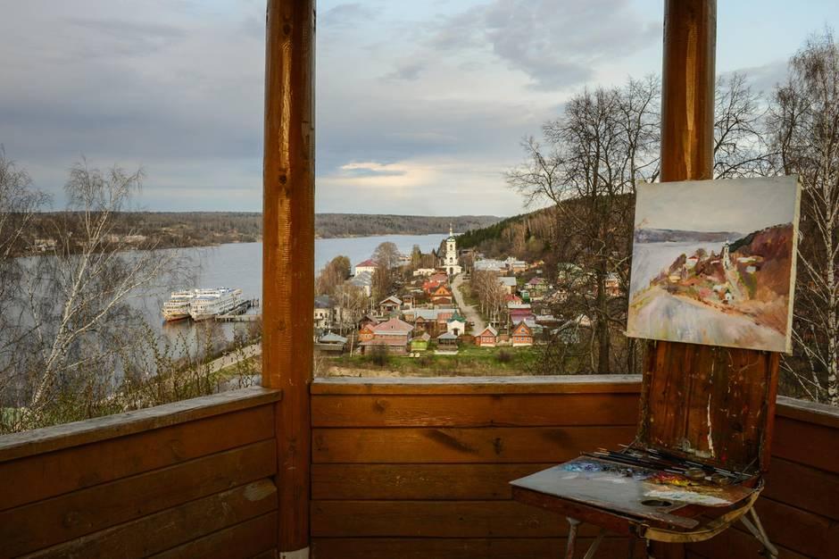 Russland: Seit Dmitrij Medwedew nach Pljos gezogen ist, entwickelt sich das Örtchen zu einem russischen Long Island