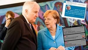 """Titanic""-Fake, Horst Seehofer, Angela Merkel"