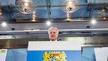 CSU-Chef Horst Seehofer, damals nochbayerischer Ministerpräsident, Mitte Märzin der Staatskanzlei in München