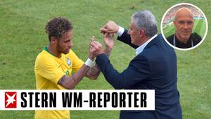 Neymar und Brasiliens Nationaltrainer Tite