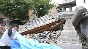 Ein schweres Erdbeben in Japan erschütterte die Region Osaka