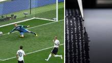Der Ball fliegt an Manuel Neuer vorbei ins DFB-Tor, die Seismographen in Mexiko zeichnen ein kleines Beben auf (Symbolbild)