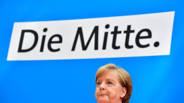 Bundeskanzlerin Angela Merkel (CDU) auf der Pressekonferenz in Berlin