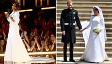 Tiffany Haddish (l.) bei den MTV Awards und Meghan Markle bei ihrer Hochzeit mit Prinz Harry