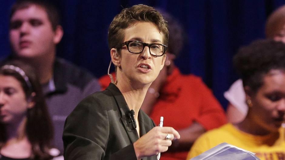 MSNBC-Moderatorin Rachel Maddow bricht über Meldung in Tränen aus