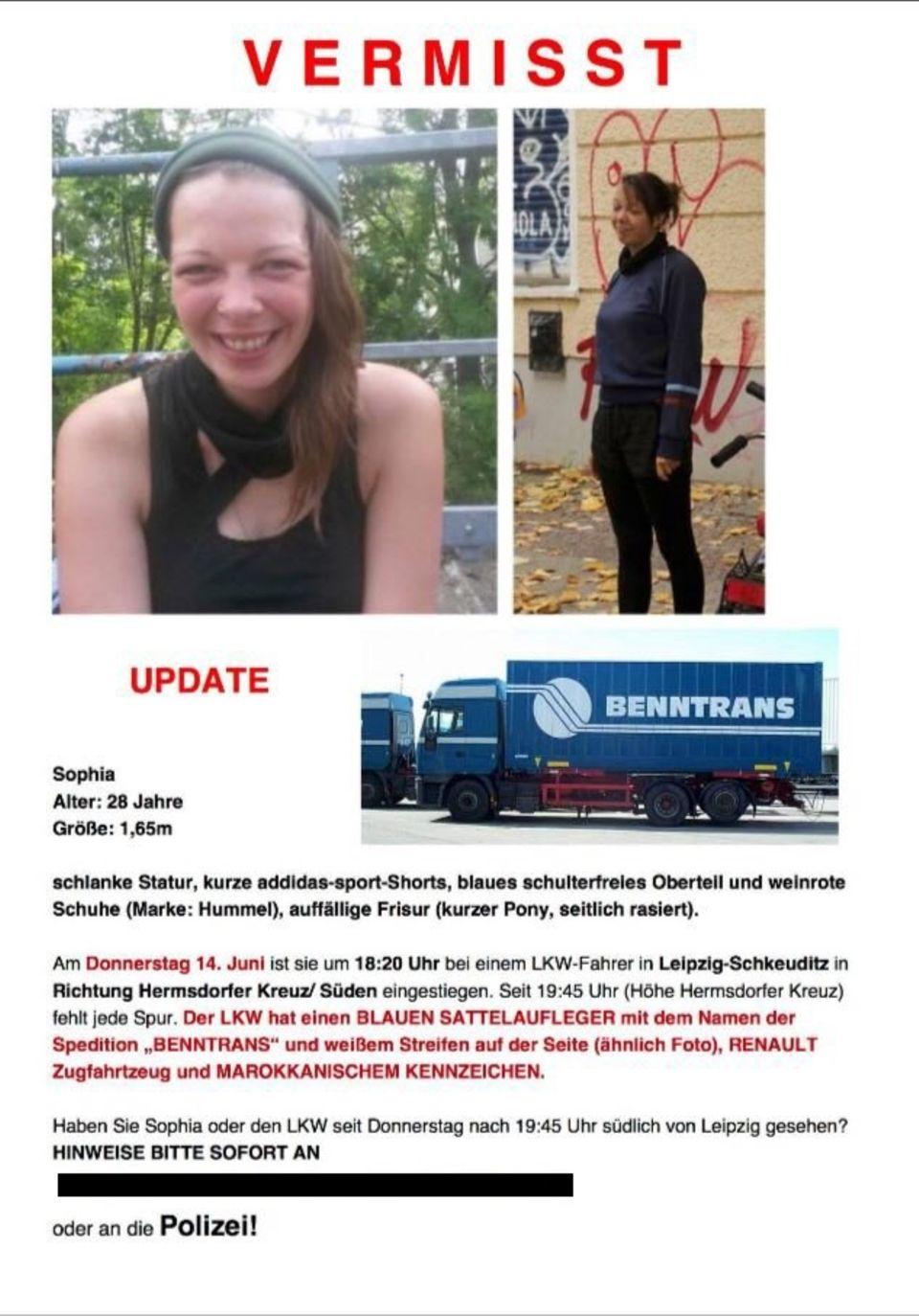 Angehörige und Freunde suchen in sozialen Netzwerken nach Sophia L.